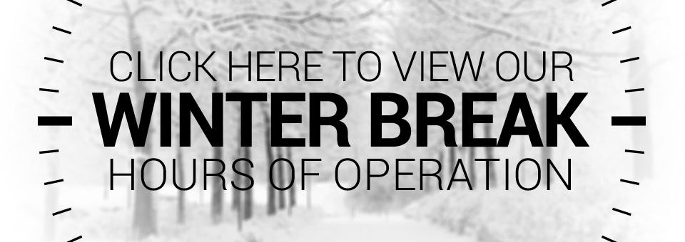 Winter Break Hours of Operation